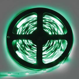Лента светодиодная Ecola LED strip STD 7.2W/m 12V IP20 10mm 30Led/m Green Зеленая 0.5м