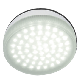 Ecola Light GX53   LED  4.2W Tablet 220V 2800K матовое стекло 30000h