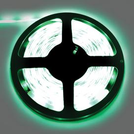 Лента светодиодная Ecola LED strip PRO 7.2W/m 12V IP65 10mm 30Led/m Green Зеленая 0.5м