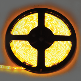 Лента светодиодная Ecola LED strip PRO 4.8W/m 12V IP65 8mm 60Led/m Yellow Желтая 0.5м