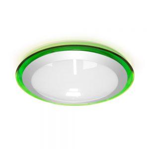 Накладной светодиодный светильник ALR-16 AC170-265V 16W d330*H70мм Зеленый (Холодный белый) 1400lm